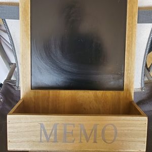 Memo chalkboard with Shelve